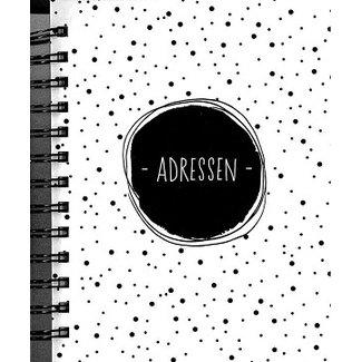 Hallmark Schwarz Weiß-Adressbuch