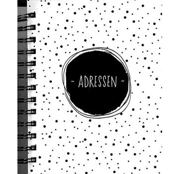 Hallmark Black White Address Book