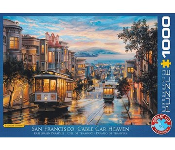 Eurographics San Francisco Cable Car Heaven 1000 Puzzle Pieces