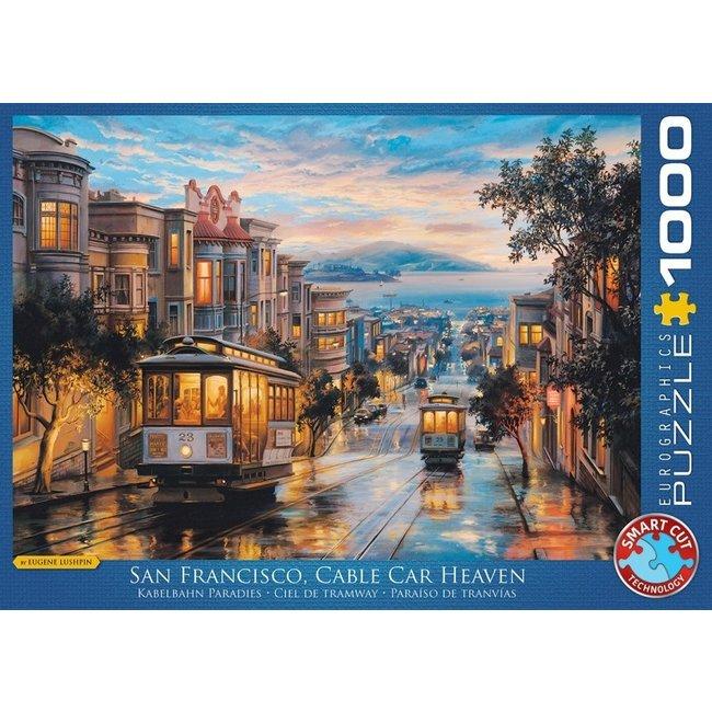Eurographics San Francisco Cable Car Himmel 1000 Puzzleteile