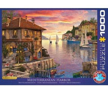 Eurographics Mediterranean Harbor - Dominic Davison Puzzel 1000 Stukjes