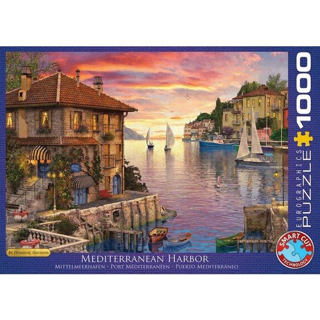 Eurographics Mittelmeer-Hafen - Dominic Davison Puzzle-Stücke 1000