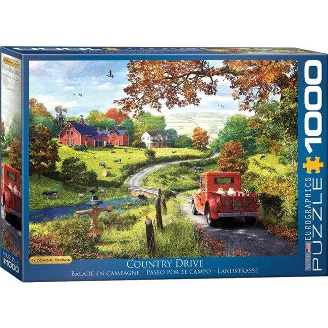 Eurographics The Country Drive - Dominic Davison Puzzel 1000 Stukjes