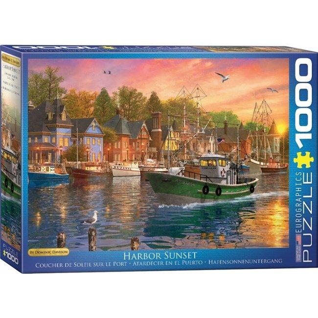 Eurographics Hafen-Sonnenuntergang - Dominic Davison Puzzle-Stücke 1000