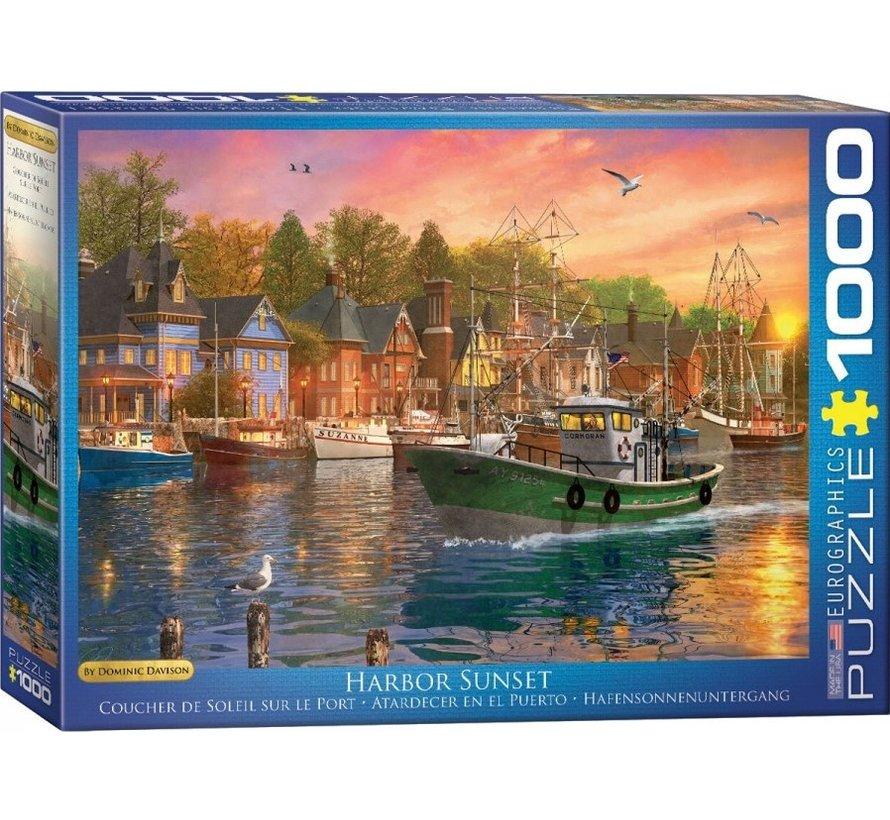 Harbor Sunset - Dominic Davison Puzzel 1000 Stukjes