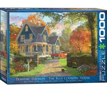 Eurographics The Blue Country House - Dominic Davison Puzzel 1000 Stukjes