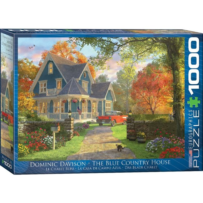 Eurographics The Blue Country House - Dominic Davison 1000 Puzzle Pieces
