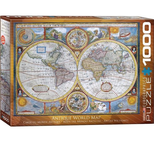 Eurographics Antique 1000 Planisphère Puzzle Pieces