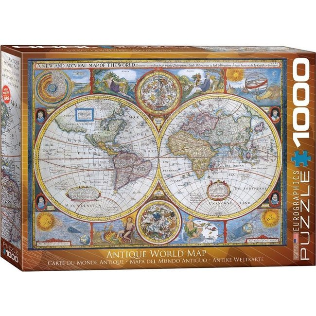 Antik 1000 Weltkarte Puzzle Pieces