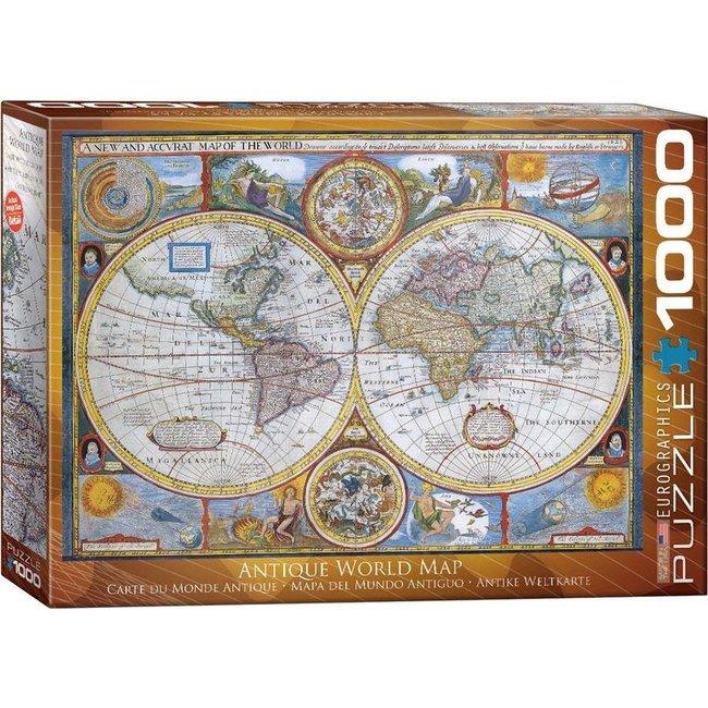 Antique World Map Puzzel 1000 Stukjes