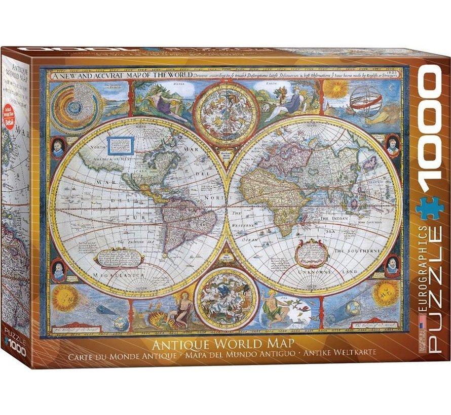 Antique 1000 Planisphère Puzzle Pieces