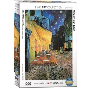 Eurographics Cafe Terrace at Night - Vincent van Gogh in 1000 Puzzle Pieces