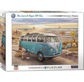 Eurographics L'amour et l'espoir VW Bus - Greg Giordano 1000 Puzzle Pieces