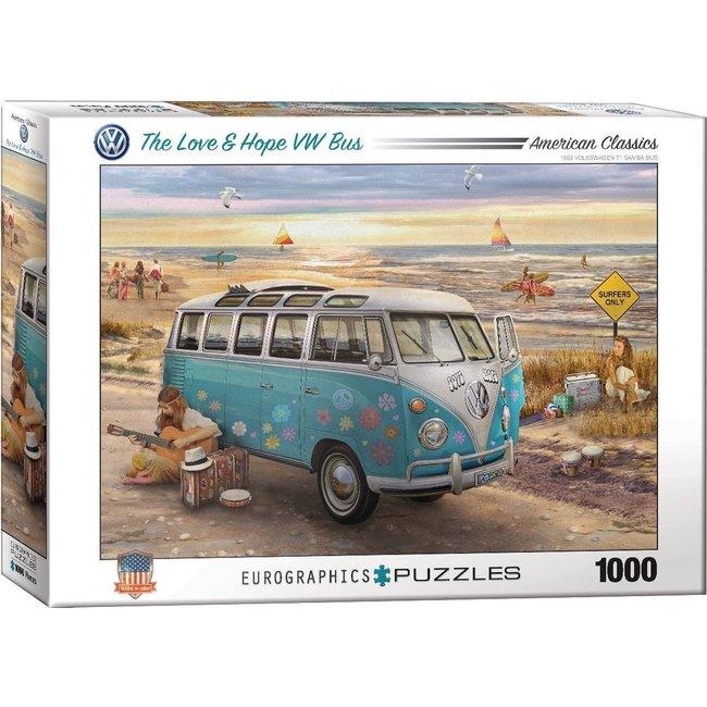 Eurographics The Love & Hope VW Bus - Greg Giordano Puzzel 1000 Stukjes