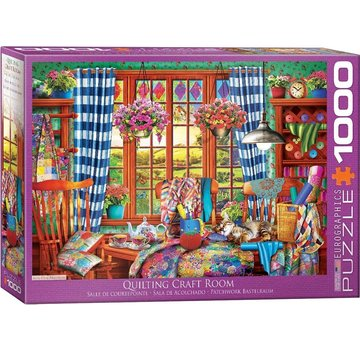 Eurographics Quilting Craft Room 1000 Puzzle Pieces