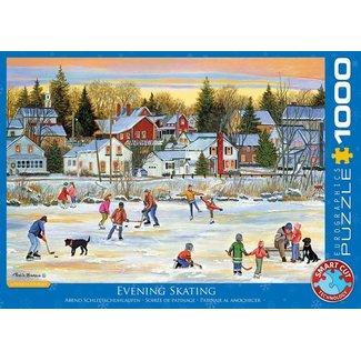 Eurographics Evening Skating - Patricia Bourque Puzzel 1000 Stukjes