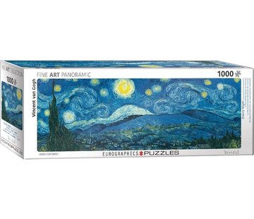 Eurographics Starry Night - Vincent van Gogh Panorama Puzzle 1000 Pieces