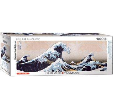 Eurographics Grande vague de Kanagawa - Hokusai Panorama Puzzle 1000 Pièces