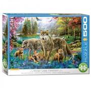 Eurographics Wolf Lake Fantasy Puzzel 500XL Stukjes