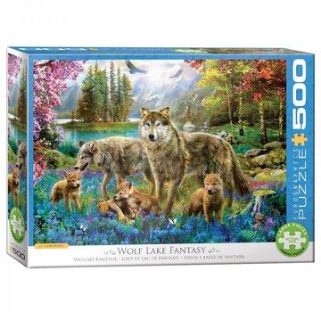 Eurographics Wolf Lake Fantaisie Puzzle Pieces 500XL