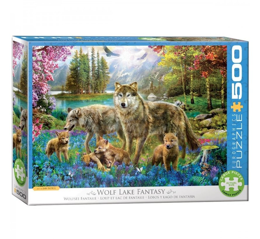 Wolf Lake Fantasy Puzzel 500XL Stukjes