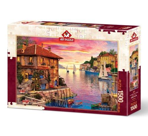 Art Puzzle Mediterranean Harbor 1500 Puzzle Pieces