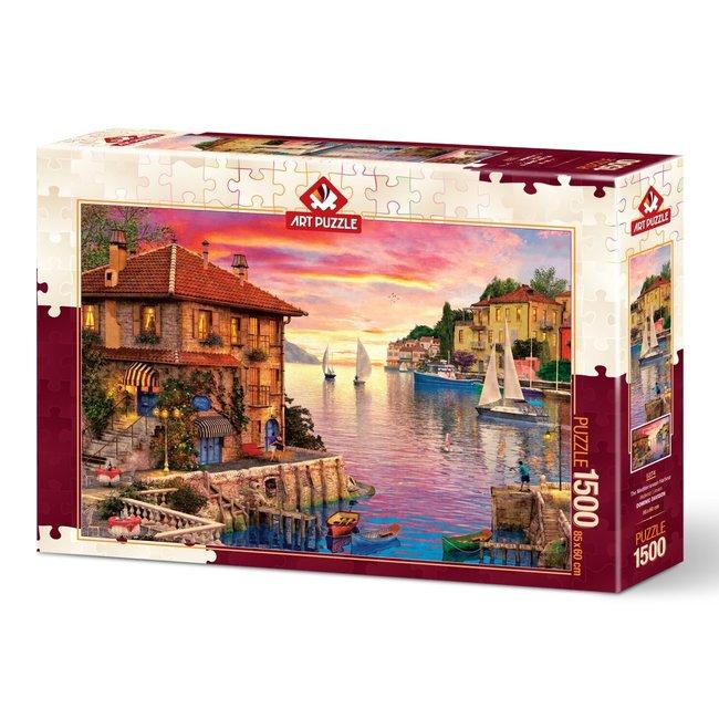 Art Puzzle Mittelmeer-Hafen 1500 Puzzleteile