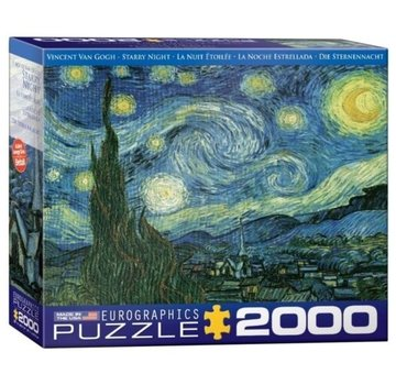 Eurographics Starry Night - Vincent van Gogh in 2000 Puzzle Pieces