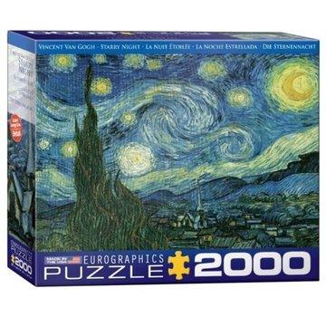 Eurographics Starry Night - Vincent van Gogh Puzzel 2000 Stukjes