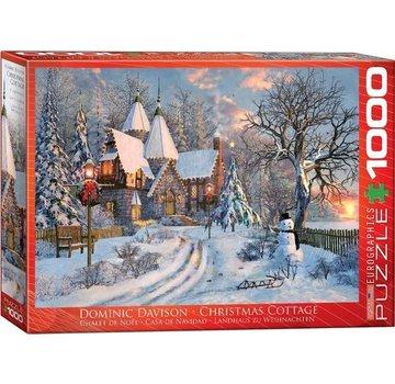 Eurographics Christmas Cottage - Dominic Davison Puzzel 1000 Stukjes