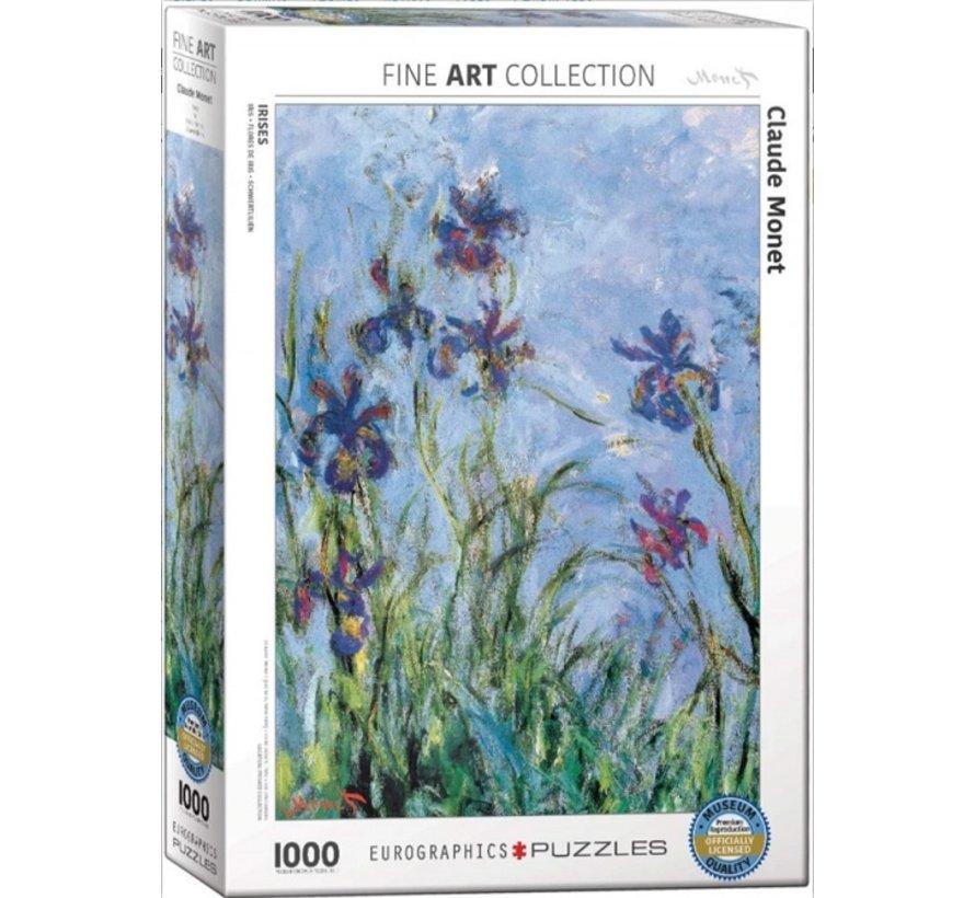 Claude Monet Puzzel 1000 Stukjes Irises