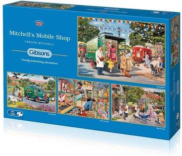 Gibsons Mitchell's Mobile Shop Puzzel 4x 500 Stukjes