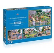 Gibsons The Gardener's Round 4x 500 Puzzle Pieces