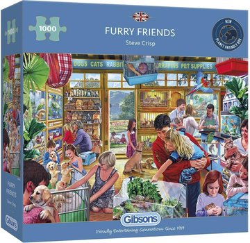 Gibsons Furry Friends Puzzle 1000 Pieces