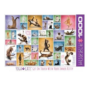 Eurographics Yoga Cats Puzzel 1000 Stukjes
