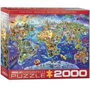 Eurographics Crazy World Puzzel 2000 Stukjes