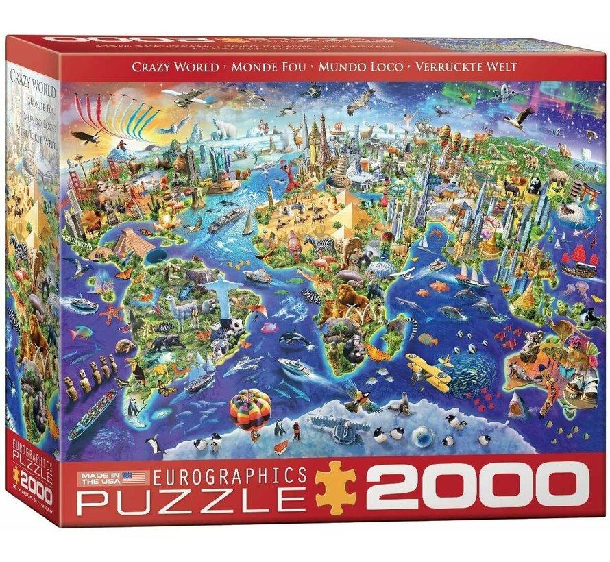 Crazy World Puzzel 2000 Stukjes