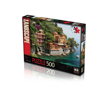 KS Games Seaside Villas near Portofino Puzzel 500 Stukjes