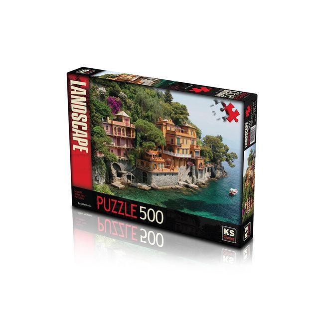 KS Games Seaside Villas near Portofino Puzzel 500 Stukjes