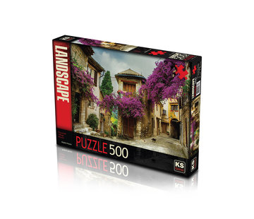 KS Games Flowered Village House Puzzel 500 Stukjes