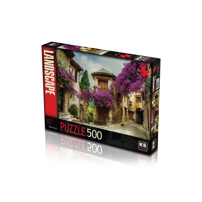 KS Games Flowered Village House Puzzel 500 Stukjes