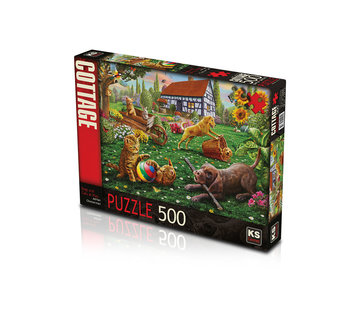 KS Games Dogs and Cats at Play Puzzel 500 Stukjes