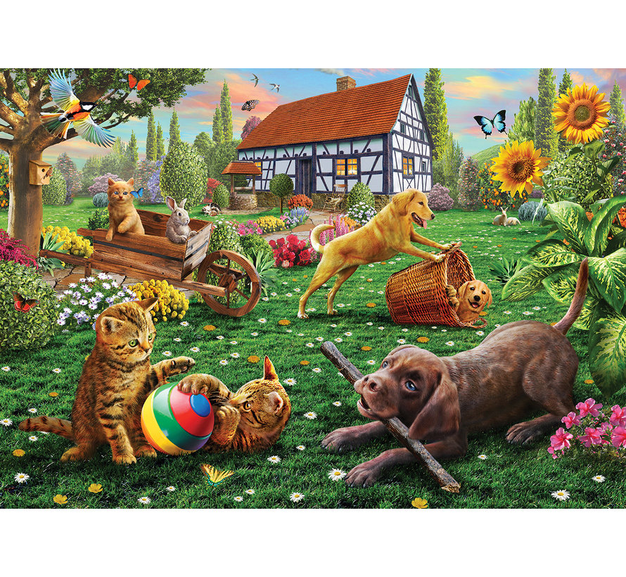 Dogs and Cats at Play Puzzel 500 Stukjes