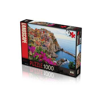 KS Games Village of Manarola Cinque Terre Italy Puzzel 1000 Stukjes