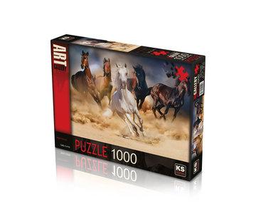 KS Games Wild Horses Puzzel 1000 Stukjes
