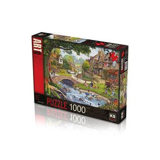KS Games Summer Village Stream Puzzel 1000 Stukjes