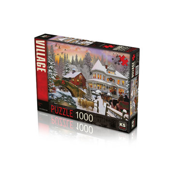 KS Games Snowy Day Puzzle 1000 Pieces