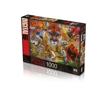 KS Games North American Animals Puzzle 1000 Pieces