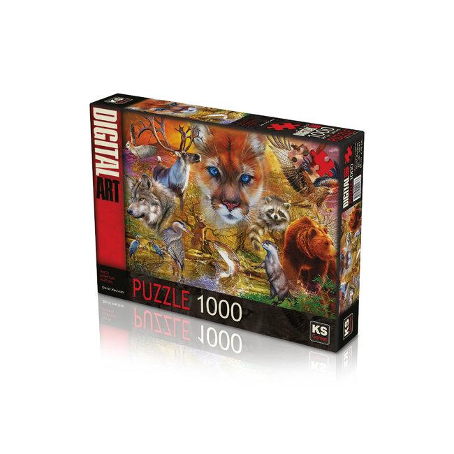 KS Games Nordamerikanische Tiere Puzzle 1000 Stück