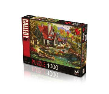 KS Games Riverside Cottage 1000 Puzzle Pieces